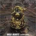 ガーディアンベル バイカーベル ハーレー 真鍮 キーホルダー ペンダント Guardian Bell Harley Accessory Motorcycle Ride Bell Brass Pendant WILD HEARTS Leather&Silver(ID kh3886k5)
