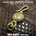 クリックポストのみ送料無料!キーホルダー  キーフック サンフェイス/ Brass key chain Key holder Sunface (ID kh3038k11)