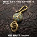 クリックポストのみ送料無料!ピースマーク キーホルダー キーチェーン キーフック 真鍮 ターコイズ Key Chain Holder Key Ring Peace Symbol Sign Love&Peace Brass Turquoise WILD HEARTS Leather&Silver(ID kh3035k11)