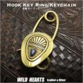 真鍮 キーホルダー キーフック ラピスラズリ Brass key chain Keyholder Lapis Lazuli WILD HEARTS Leather&Silver(ID kh2353k11)