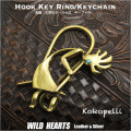 クリックポストのみ送料無料!キーホルダー ウォレットチェーンホルダー 真鍮 キーフック インディアンジュエリー ココペリ native American key chain (ID kh14502k11)