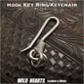 クリックポストのみ送料無料! キーホルダー ウォレットチェーンホルダー  キーフック 合金 Metal Key chain/ Key Holder WILD HEARTS Leather&Silver (ID kh1918k11)