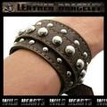 クリックポストのみ送料無料!レザーブレスレット レザーリストバンド 牛革 茶 Leather Bracelet/Leather Wrist Band (ID lb1518r32)