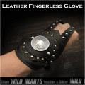 クリックポストのみ送料無料!レザーブレスレット フィンガーレスグローブ ハンドプロテクト型 本革/ Biker Gear Leather Wrist Band Biker wrist band (ID lb1363r1)