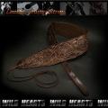 ギター用ストラップ ギターストラップ 牛革 レザー Carved Leather Acoustic Guitar Strap Wide Design 花柄カービング