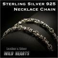"""クリックポストのみ送料無料!ネックレスチェーン シルバー925 シルバーチェーン 50cm / 20"""" Sterling Silver 925 Necklace Chain Jewelry (ID nc2018r3)"""
