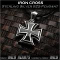 ペンダントトップ アイアンクロス 鉄十字 シルバー925 Iron Cross Sterling Silver 925 Pendant  WILD HEARTS Leather&Silver (ID pt3409)