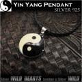 クリックポストのみ送料無料!ペンダントトップ シルバー925 太極図 陰陽 Sサイズ Lサイズ Yin Yang Pendant S-size L-size WILD HEARTS Leather&Silver (ID pt0935)