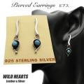 クリックポストのみ送料無料!ピアス ターコイズ シルバー925 ネイティヴ系 レディース インディアンスタイル Turquoise Sterling Silver Pierced Earrings Native American style WILD HEARTS Leather&Silver (ID se3232)