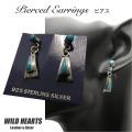 ターコイズ アローピアス シルバー925 シルバーアクセサリー Sterling Silver Turquoise Earrings Native American Style WILD HEARTS Leather & Silver(ID se4100)