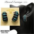 クリックポストのみ送料無料 レディースターコイズピアス シルバー925 インディアンジュエリースタイル シルバーアクセサリー イヤリング Native American Style TurquoiseSterling Silver Pierced Earrings WILD HEARTS Leather&Silver(ID pe2267)
