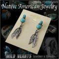 クリックポストのみ送料無料!インディアンジュエリー ピアス シルバー925 ターコイズ  イヤリング/Native American Style Turquoise Sterling Pierced Earrings (ID pe2236)