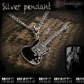 クリックポストのみ送料無料!ギターペンダントトップ ネックレストップ ギター シルバー925 シルバーペンダント silver pendant guitar silver necklace (ID pt1519)