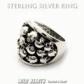 送料無料!スカルシルバーリング メンズ シルバー925 リング 指輪 シルバーアクセサリー ドクロ 髑髏 大きい Men's Solid 925 Sterling Silver Ring Skull Biker Punk WILD HEARTS Leather&Silver (ID sr0787r64)