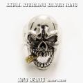 クリックポストのみ送料無料!メンズ スカル シルバーリング シルバー925 リング Silver925 ビッグサイズ ドクロ 髑髏 Men's Solid 925 Sterling Silver Ring Skull Biker Punk WILD HEARTS Leather&Silver (ID sr0785r250)