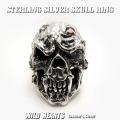 送料無料!メンズアクセサリー シルバー925/silver925 スカルリング メンズリング ごつい ビッグサイズ STERLING SILVER SKULL RING/Solid Silver 925 WILD HEARTS Leather&Silver (ID sr0788r81)