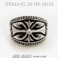クリックポストのみ送料無料!メンズ シルバーリング 指輪 シルバー925 Silver925 十字架 クロス Sterling Silver Ring/Fleur-de-lis/Cross WILD HEARTS Leather&Silver (ID sr0772kr406)