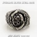 クリックポストのみ送料無料! シルバーリング 指輪 シルバー925 髑髏 スカル 死神 Sterling Silver Ring Skull Grim Reaper Biker WILD HEARTS Leather&Silver (ID sr0799r254)