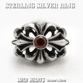 クリックポストのみ送料無料!メンズシルバーリング 指輪 シルバー925 フローラルクロスリングSTERLING SILVER RING Fleur-de-lis Design WILD HEARTS Leather&Silver(ID sr0773kr397)