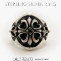 クリックポストのみ送料無料 クロスフローリー シルバーリング クロスモチーフリング 指輪 シルバーアクセサリー シルバー925 STERLING SILVER RING/Solid Silver Ring With Cross Motif (ID sr0767k1)