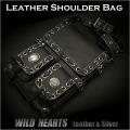送料無料!ショルダーバッグ/本革/レザー/メンズ/メッセンジャーバッグ/ブラック/黒/Cowhide/shoulder bag/Messenger bag/Black (ID sb1490k10)
