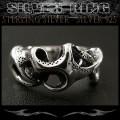クリックポストのみ送料無料!シルバーリング リング 指輪 トライバル シルバー925 Silver ring Tribal Jewelry (ID 0768kr404)