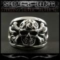 クリックポストのみ送料無料!シルバーリング リング 指輪 髑髏 スカル トライバル シルバー925 Silver Ring Skull Tribal (ID sr0786r275)