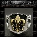 クリックポストのみ送料無料! シルバーリング リング 指輪 フレア ユリの紋章 シルバー925 Sterling Silver Ring Fleur-de-Lis (ID sr0792r255)