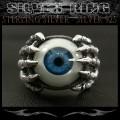 送料無料! シルバーリング リング 指輪 ドクロハンド 目玉 義眼 シルバー925 Sterling Silver Ring Skull (ID sr0794r307)