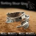クリックポストのみ送料無料!シルバーリング インディアンジュエリー フェザー シルバー925 Indian Jewelry Feather wing Sterling Silver Ring (ID trs0086)