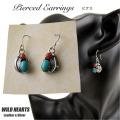 クリックポストのみ送料無料!ターコイズ サンゴ ピアス フック ピアス シルバー925 Native American Style Turquoise Sterling Earrings WILD HEARTS Leather&Silver (ID se2338)