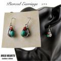 クリックポストのみ送料無料!ターコイズ サンゴ ピアス フック ピアス シルバー925 Native American Style Turquoise Sterling Earrings WILD HEARTS Leather&Silver (ID se4184)
