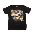 メンズ Tシャツ バイカー/バイク イーグル S/ M/ Lサイズ 黒   Men's T-Shirts Biker Eagle Live To Ride   WILD HEARTS Leather&Silver (ID ts3339r46)