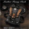 メンズ レザー ウエストバッグ ショルダーバッグ 2WAY レッグベルト付き レッグポーチ/バッグ Men's Genuine Leather Biker Fanny Pack Waist Bag Shoulder Bag Concho WILD HEARTS Leather&Silver (ID wb3512b42)