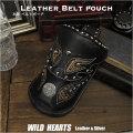 在庫処分!ウエストポーチ ウエストバッグ ヒップバッグ バイカー ベルトポーチ 牛革/レザー Men's Genuine Leather Biker Waist Pouch Hip Pouch/ Purse/Bag Belt Travel Bag (ID wp1474t46)