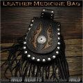 メディスンバッグ ウエストポーチ/バッグ フリンジ付き レザー/本革 パイソン スマホケース High Quality Genuine Cowhide Leather Medicine Bag Hip Bag Pack Pouch Belt WILD HEARTS leather&silver(ID wp0748r59)