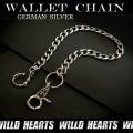 ウォレットチェーン/キーチェーン/ジャーマンシルバー/Wallet chain/Biker/German Silver/Gothic/Jeans wallet key chain (ID wc1817r6)