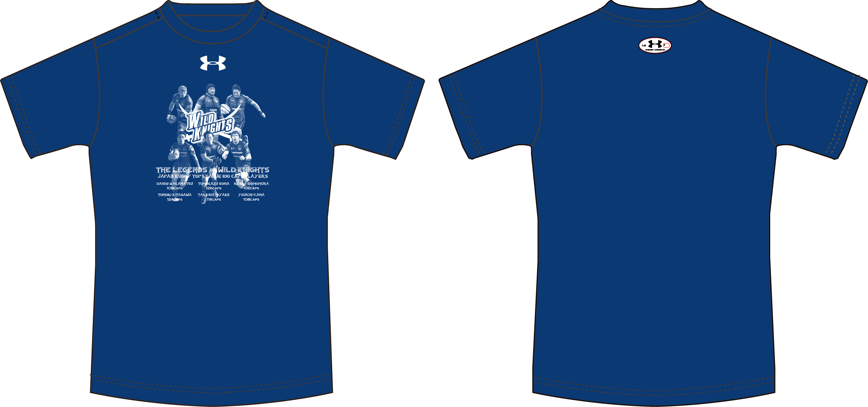 《ワイルドナイツグッズ》アンダーアーマー製ワイルドナイツレジェンドTシャツ 【1着までメール便(ゆうパケット)対応可】《Wild Knights Goods》 Wild Knights Legend T-shirt by Under Armour.