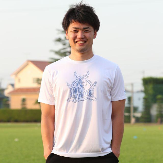 アンダーアーマー製ワイルドナイツテックTシャツ(WKビッグロゴデザイン)(ヒートギア:暑い時用)[白、青/S-XXL]  By Under Armour Wild Knights Tech T shirts ( Big Logo Design) [White,Black/S-XXL]
