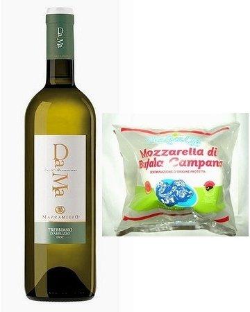マラミエーロ ダーマ・トレッビアーノ・ダブルッツォと最上級カンパーニャ産モッツァレッラ・チーズ