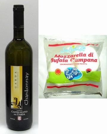 最上級カンパーニャ産モッツァレッラ・チーズとコストパフォーマンス抜群白ワインのセット