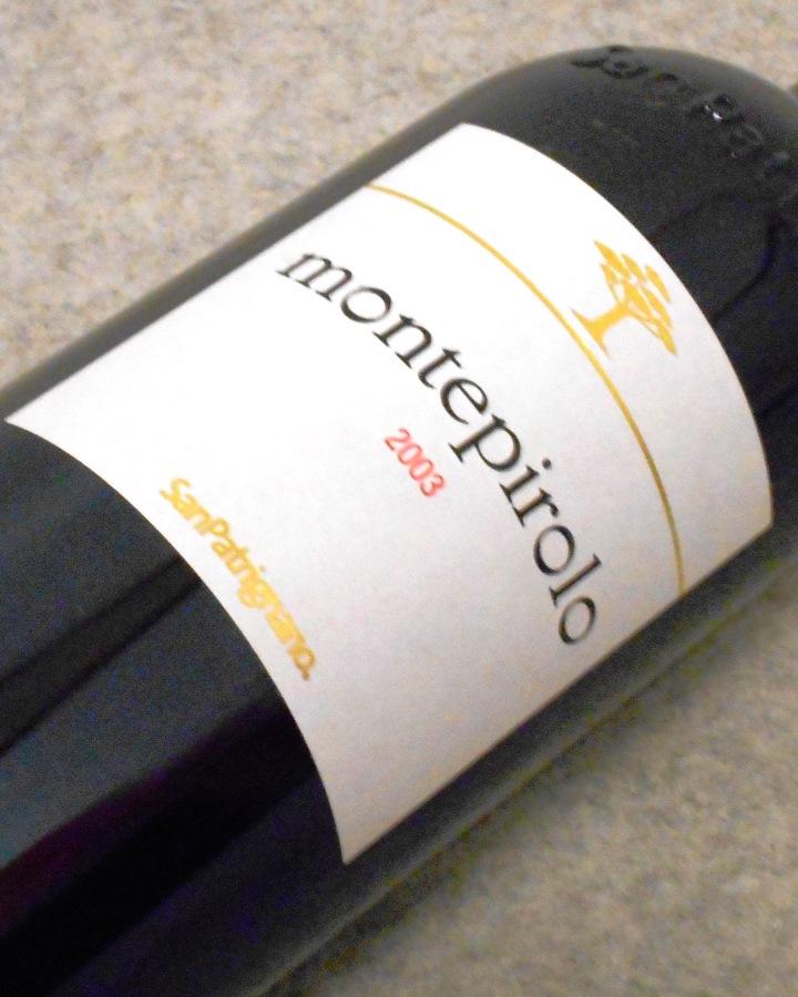 モンテピローロ・コッリ・ディ・リミニ・カベルネ2003 サン・パトリニャーノ