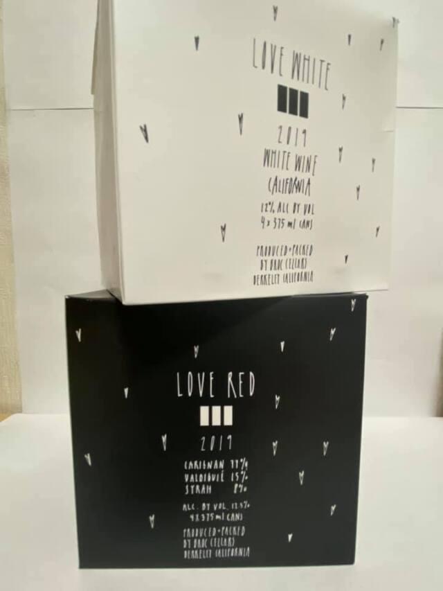 ブロックセラーズ/ラヴ レッド 2019年 375ml缶 (赤) ×4本セット(専用箱入り)
