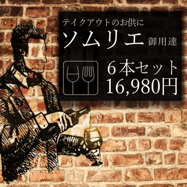 【大阪市環状線内・配達可】テイクアウトのお供に!ソムリエ御用達ワイン6本16,980円セット