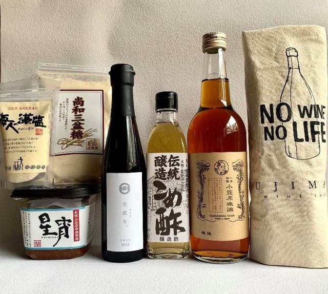 FUJIMARUセレクト/基本の調味料さしすせそ+味醂セット(トートバック付き)