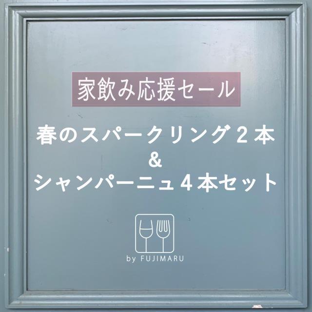 【送料無料】家飲み応援セール!「夏のスパークリング2本」 & 「シャンパーニュ4本」お得な泡6本セット