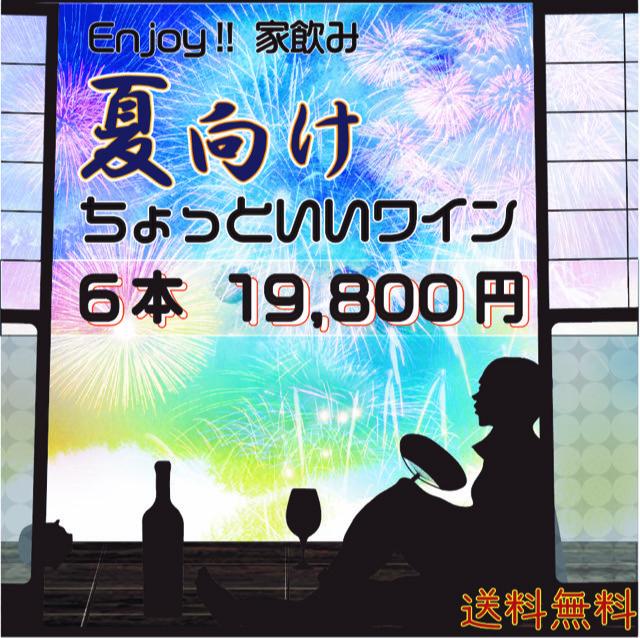 """【送料無料】Enjoy!家飲み 夏向け""""ちょっとイイ""""ワイン6本19,800円セット"""