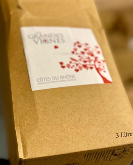 エステザルグ協同組合/3リットルBIB(バッグインボックス)コートデュローヌ ルージュ レグランヴィーニュ 2019年(果実味たっぷり赤)