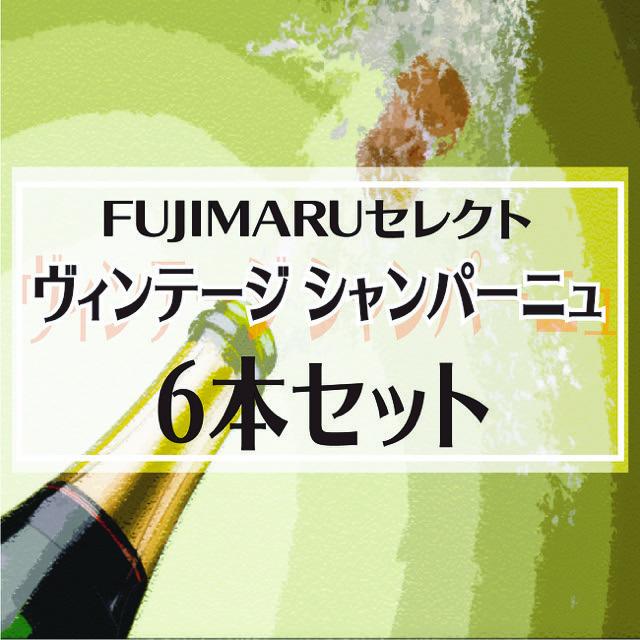 【送料無料】FUJIMARUセレクト!お勧めヴィンテージ シャンパーニュ6本セット