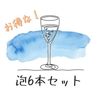 【送料無料(北海道・沖縄を除きます)】おウチで美味しいワインを!FUJIMARUセレクト「ペティアン2本」 & 「シャンパーニュ4本」お得な泡6本セット